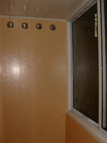 """ФотогалереЯ """"наши работы - внутренняя отделка лоджии, балкон."""